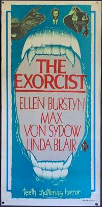 The Exorcist Poster Original Daybill 1980s Re-Issue Linda Blair William Friedkin