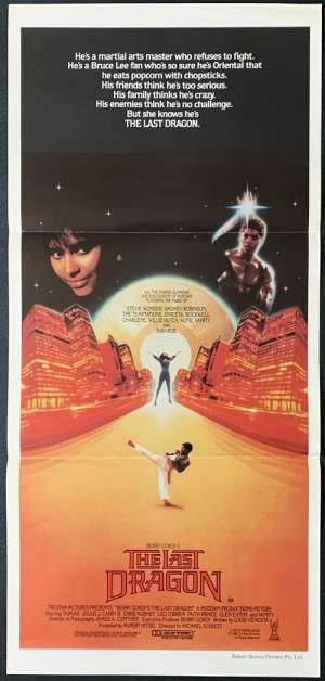 The Last Dragon 1985 Daybill movie poster Berry Gordy Taimak