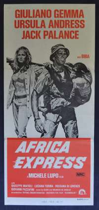 Africa Express Movie Poster Original Daybill 1975 Ursula Andress Jack Palance