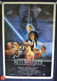 Return Of The Jedi Movie Poster Original One Sheet 1983 Style B artwork