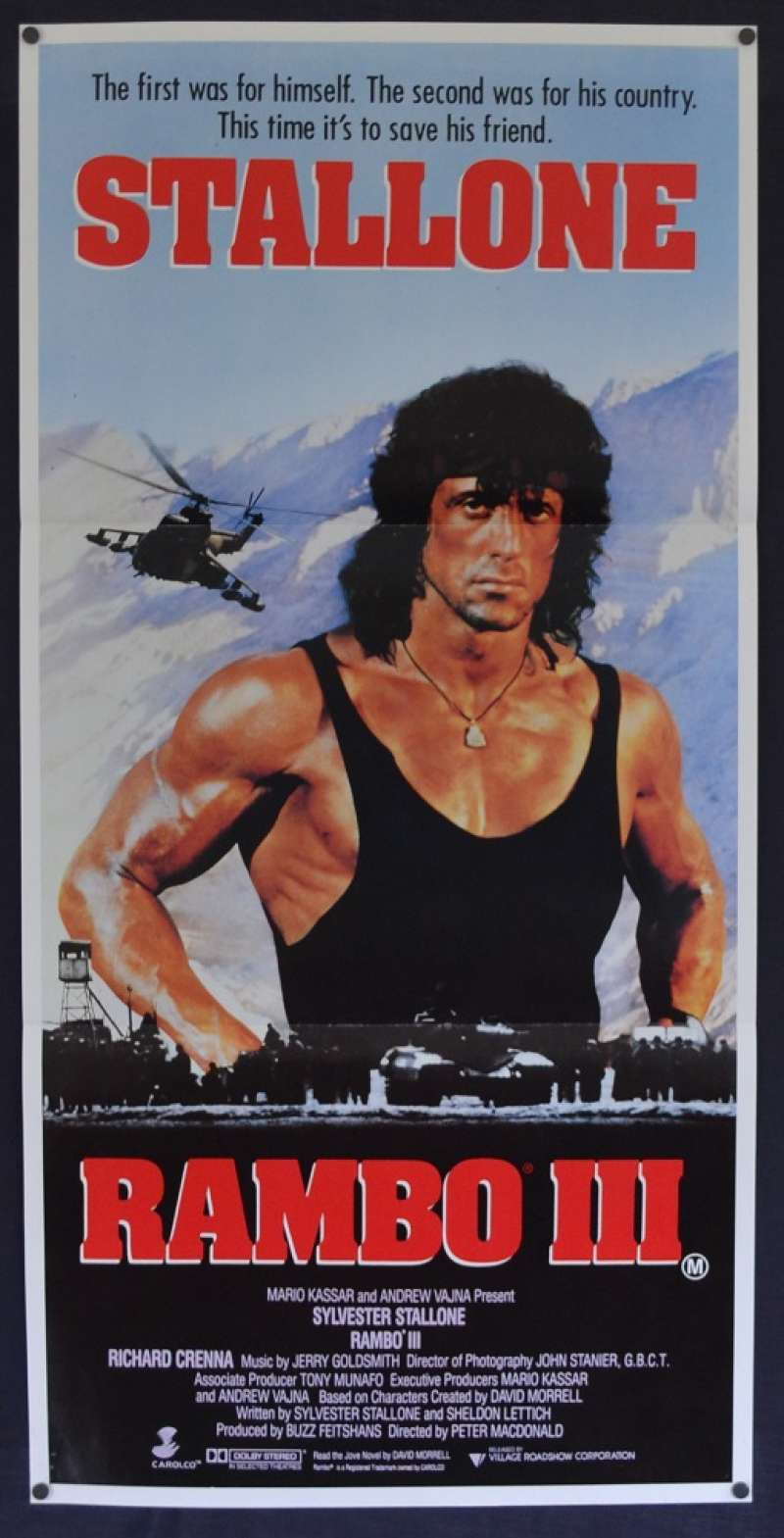 All About Movies - Rambo III movie poster Daybill ...