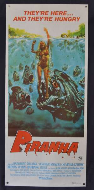 Piranha Movie Poster Original Daybill 1978 Bradford Dillman Roger Corman