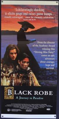Black Robe 1991 Daybill movie poster Aden Young Bruce Beresford