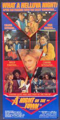 A Night On The Town Poster Daybill Elisabeth Shue Aka Adventures In Babysitting