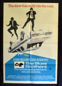 The Blues Brothers Poster Original One Sheet 1980 RARE FIRST release John Belushi
