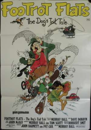 Footrot Flats 1986 Rare One Sheet movie poster New Zealand Cinema