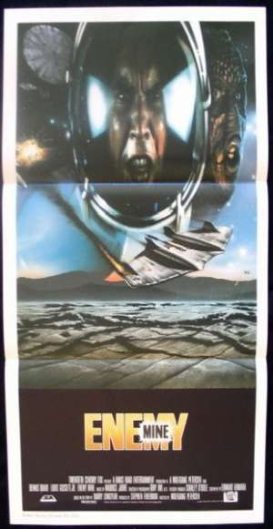 Enemy Mine Poster Original Daybill 1985 Dennis Quaid Wolfgang Petersen