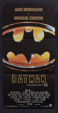 Batman Poster Original Daybill 1989 Michael Keaton Superhero Tim Burton
