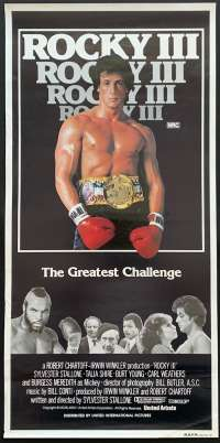 Rocky III 1982 Daybill movie poster RARE No Folds Sylvester Stallone Boxing