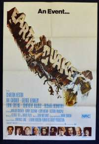 Earthquake 1974 One Sheet movie poster Charlton Heston Ava Gardner George Kennedy