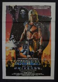 Masters Of The Universe Poster Original One Sheet 1987 Dolph Lundgren Struzan Art