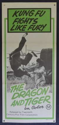 The Dragon And Tiger Daybill movie poster martial arts