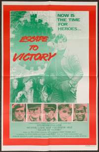 Escape To Victory 1981 One Sheet movie poster Sylvester Stallone Pele Football