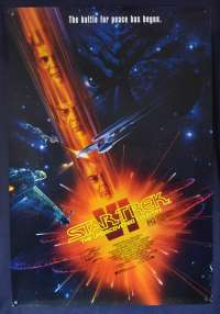 Star Trek VI The Undiscovered Country One Sheet movie poster Autographed by Walter Koenig