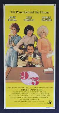 Nine To Five 9 to 5 Poster Original Daybill Rolled 1980 Dolly Parton Jane Fonda