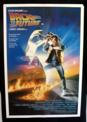 Back To The Future Movie Poster Original One Sheet Michael J Fox Drew Struzan Art