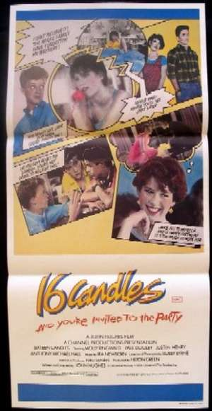 16 Candles Daybill Movie Poster Molly Ringwald