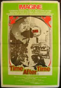 Time After Time Poster Original One Sheet 1979 Malcolm McDowall Jack The Ripper
