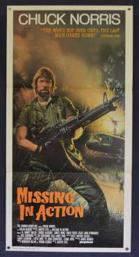 Missing In Action Poster Original Daybill Rare 1984 Chuck Norris Vietnam