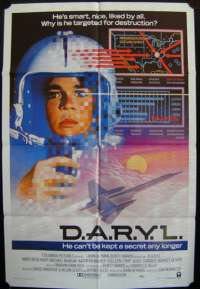D.A.R.Y.L. 1985 One Sheet Australian movie poster