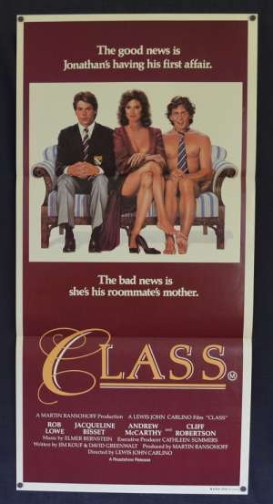 Class Daybill Movie Poster Original 1983 Rob Lowe Andrew McCarthy