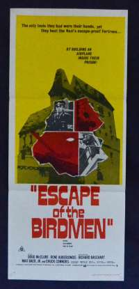 Escape Of The Birdmen 1971 Daybill movie poster Doug McClure Chuck Connors Colditz