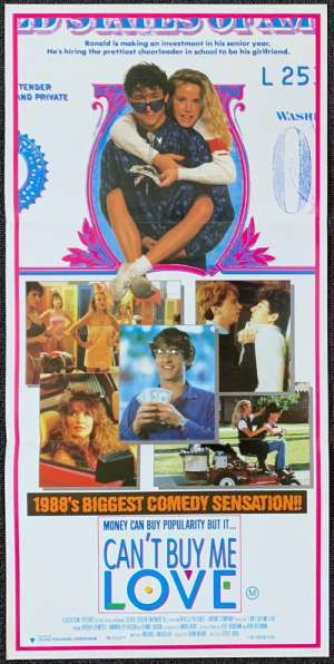 Can't Buy Me Love Movie Poster Original Daybill Patrick Dempsey