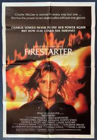Firestarter Poster Original One Sheet 1984 Drew Barrymore Stephen King Horror