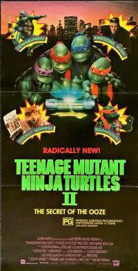 Teenage Mutant Ninja Turtles II - The Secret Of The Ooze 1991 Daybill Poster