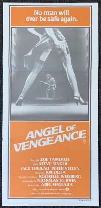 Angel Of Vengeance Movie Poster Original Daybill Aka Ms .45 Zoë Tamerlis Abel Ferrara