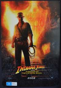 Indiana Jones And The Kingdom Of Crystal Skull Harrison Ford Advance art One Sheet movie poster