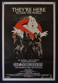 Ghostbusters Movie Poster Original One Sheet 1984 RARE Bill Murray Dan Aykroyd