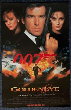 GoldenEye Daybill Poster Original Rare 1995 Advance Art Pierce Brosnan James Bond