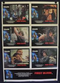 First Blood Movie Poster Original Australian Photosheet Sylvester Stallone