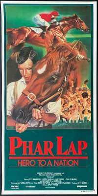 Phar Lap 1983 Rare Rolled Daybill movie poster Tom Burlinson Melbourne Cup Horse Racing