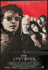 The Lost Boys Movie Poster Original One Sheet 1987 Vampires Kiefer Sutherland