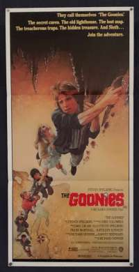 The Goonies Movie Poster Original Daybill 1985 Sean Astin Drew Struzan Art