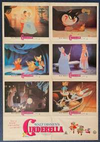 Cinderella 1950 Poster Original Photosheet 1984 Re-Issue Disney Animation