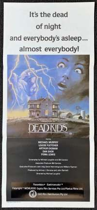 Dead Kids Poster Original Daybill 1981 Slasher aka Strange Behaviour Horror