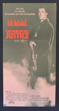 Out For Justice 1991 Daybill movie poster Steven Seagal martial arts