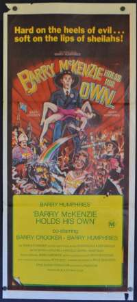 Barry McKenzie Holds His Own Daybill Poster 1974 Barry Crocker Barry Humphries