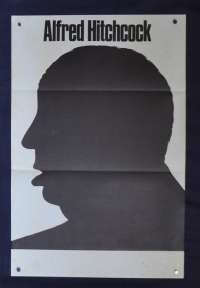 Alfred Hitchcock Poster Silouette B/W Promotional Rare