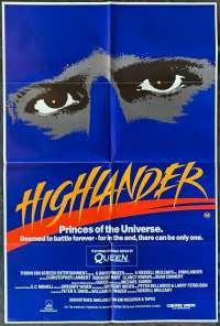 Highlander Poster Original One Sheet 1986 Christopher Lambert Sean Connery