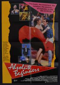 Absolute Beginners Movie Poster One Sheet David Bowie Sade Patsy Kensit
