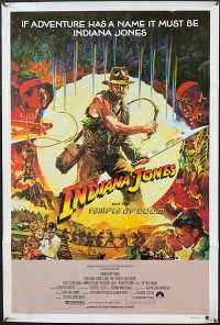 Indiana Jones And The Temple Of Doom 1984 One Sheet movie poster RARE Jungle Art