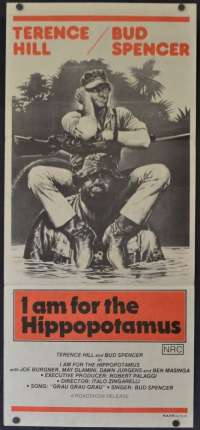 I am For The Hippopotamus Poster Original Daybill 1979 Trinity Boys Comedy