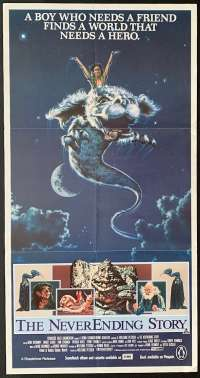 The Neverending Story 1984 Movie Poster Daybill Noah Hathaway Wolfgang Petersen