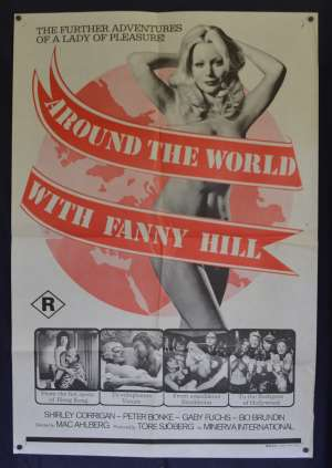 Around The World With Fanny Hill Poster Original One Sheet 1974 Sexploitation