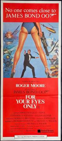 For Your Eyes Only Roger Moore 007 vintage Daybill movie poster