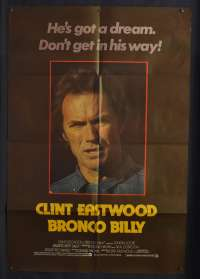 Bronco Billy 1980 Rare English One Sheet movie poster Eastwood Western